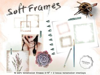 Soft watercolor frames clipart by iCatchUrDream