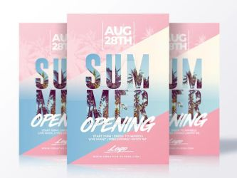 Summer Flyer Psd by RomeCreation