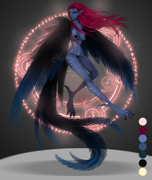 (closed) Auction Adopt - Arcane Harpy 2 by CherrysDesigns