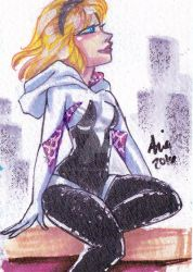 Spidergwen sketchcard 6 by mainasha