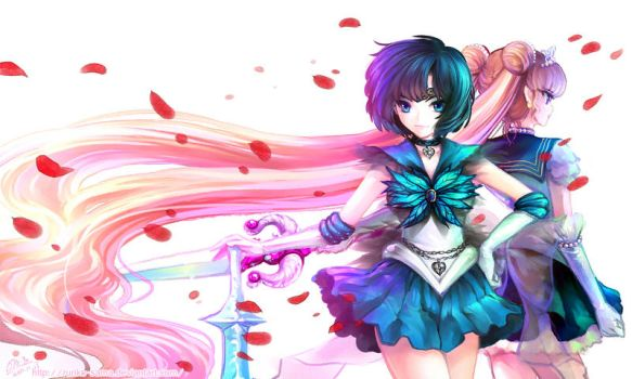 Speedpaint: Evil Mercury and Warrior Moon Princess by Ruri-dere