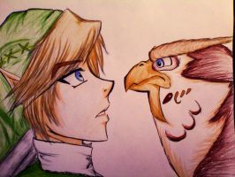 Out of creative titles, Link and Kaepora Gaebora by Dresoria
