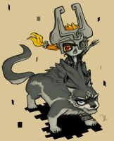 Midna is Bossy and Link is Angry by Dreamer-T