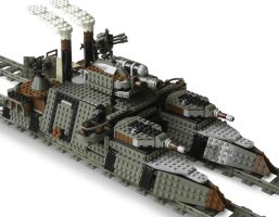 'Ironclad' Double-Gauge Steam Railship Mk.XLVIII by RRaillery