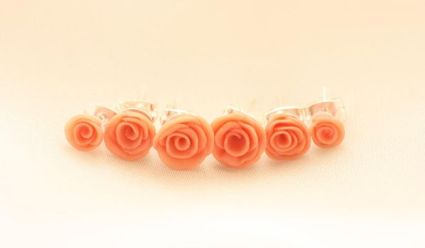 Rose Studs by xquiescentdeath