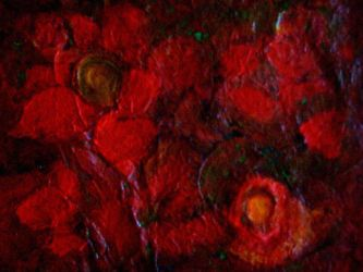 red flowers by EstherVienna