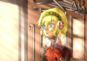 Aigis in Train by freezingfeathers