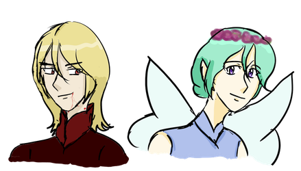 God of Vampirism and the God of Fairies by koolkitty9