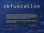 obfuscation poster by celebrus