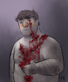 Day 13: Cuts/Gashes by Maimed-Bunny