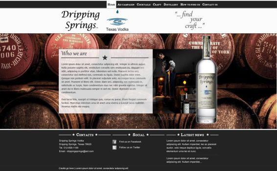 Redesign proposal of Dripping Springs Vodka by kekkorider