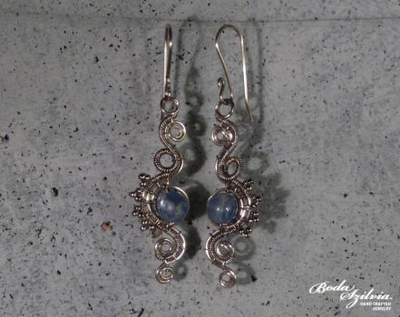 Naiad earrings by bodaszilvia