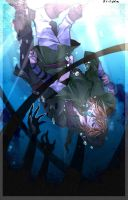 Ben and Link - drowned in the sea - by FikaM05