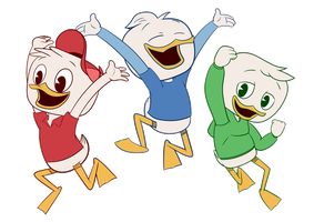 Huey, Dewey and Louie - DuckTales 2017 by iwannadrawgood