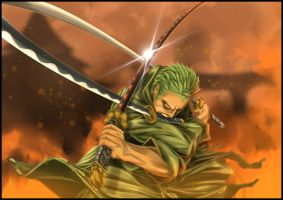 Roronoa Zoro 3 Swords by rokudaim