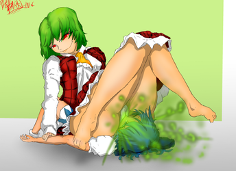 Relaxing with Yuuka by PervDarKLing