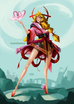 Inspired Character Design: Princess Peach by TheOneWithBear
