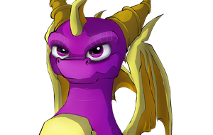 Mighty purple dragon by IcelectricSpyro