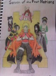 Sennin Of The Four Nations Commissioned Image by TheRealKyuubi16