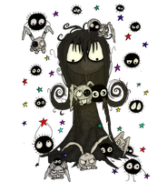 Soot Girl meets the soot sprites png by Little-Horrorz