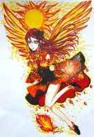 Riko on Fire by SamichasArt