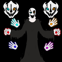 Gaster - Battle in the Void by equilibrik