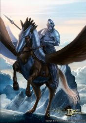 Dragon Chronicles - Pegasus and Knight by RobertCrescenzio