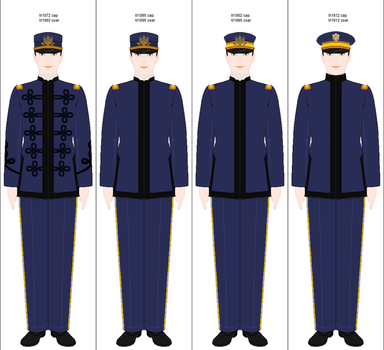U.S. Army: Officer's dress uniform, 1892-1918 by Arashi-senpai