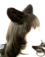 Black Furry Wolf Ears Inumimi by StorytellerZero