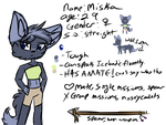 Mishka (Dimension Guardians character ref) by Winterline13