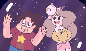 Steven and Bee (and Puppycat) by TheGreatYakoshi