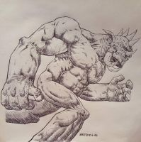 GIANT MONSTER drawing  by drawhard