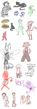 Livestream Doodles 2 and 3 by Mister-Saturn