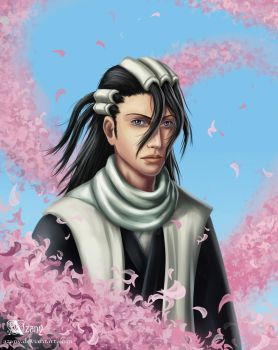 Bleach: Kuchiki Byakuya by Azany