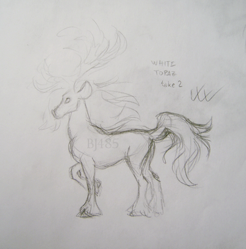 White Topaz Deer Horse (take 2) by BillieJean485