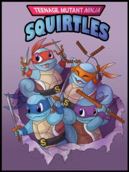 teenage mutant ninja squirtles by Takashi662