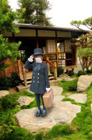 Top Hat Girl at Japanese Teahouse by AndySerrano