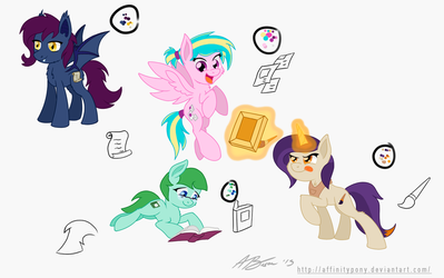 EQD Mascots (First 4) by AffinityShy