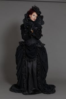 Stock - Gothic baroque lady dreaming pose by S-T-A-R-gazer