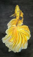 Golden Siamese Fighting Fish by cassandra4