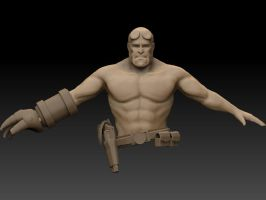 Hellboyzbrush Front by detachfromtheoutcome