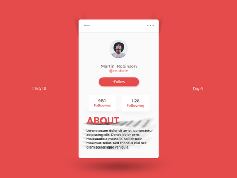 Daily UI Challenge - Day 6 by FanBarcelony