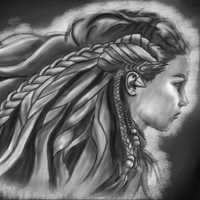 Aloy - Horizon Zero Dawn (BnW) by sketchygerry