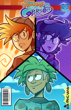 Trouble With The Copersons (Comic Cover) by Toon-O-Clock