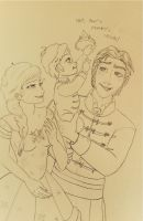 Hans and Elsa, a royal family portrait by lisuli79