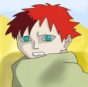Gaara Of The Sand by Amber-Blossom
