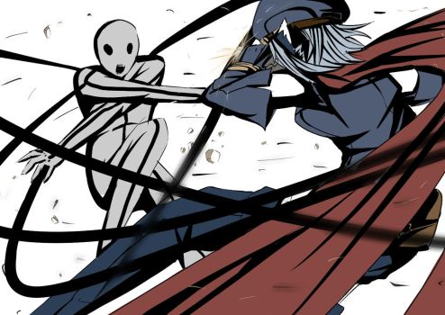 Celes vs Stickman by sinlaire