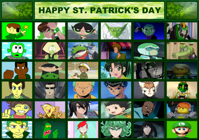 CN and Anime - Happy St. Patrick's Day by ian2x4