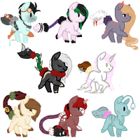 MLP Cotton Mouth Adopts Closed by prettycritter16