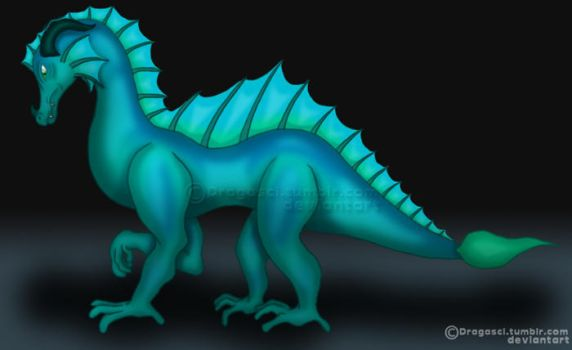 Water dragon {graphics tablet test} by Dragasci
